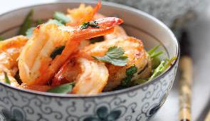 crevettes grilles ail pois gourmand