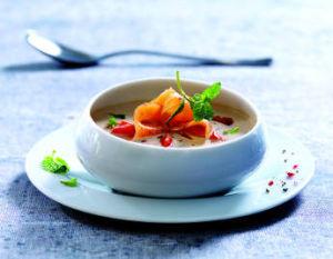soupe froide saumon yaourt grec