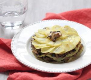 Millefeuille de pomme de terre aux champignons - Feuille pomme de terre ...
