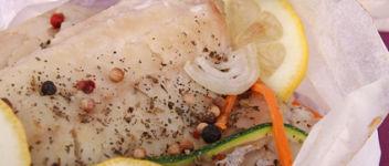 colin en papillote aux legumes