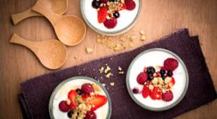 fromage blanc aux fruits crumble