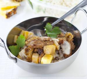 wok agneau ananas