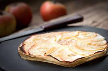 tartelette aux pommes et feuilles de riz