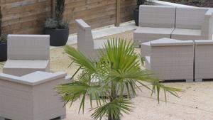 Resin garden furniture, a trendy option
