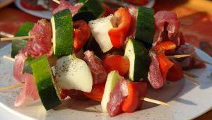 brochette tomate courgette