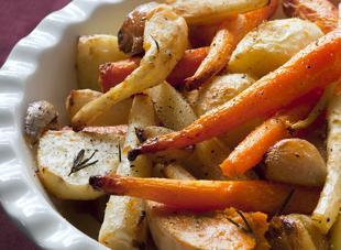 Legumes Rotis Au Four Panais Carottes Navets
