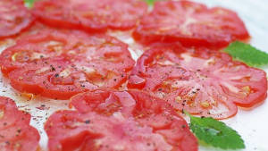 carpaccio tomate