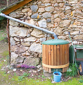 Using rainwater for the garden
