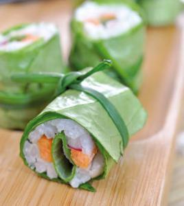 Recette du Makis de laitue aux légumes croquants