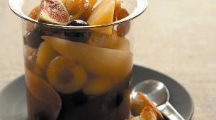 soupe de fruits cidre