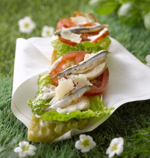 sandwich poulet tartare anchois