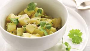 Barigoule de pommes de terre au citron et coriandre