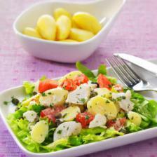 Salade de pommes de terre primeurs au cabillaud