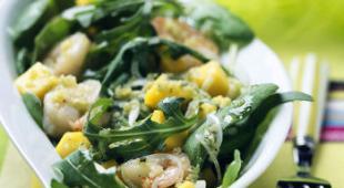 Salade de gambas et mangue