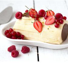 buche creme fruits rouge