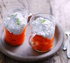 carotte vapeur chantilly menthe