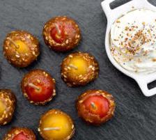 tomate cerise caramel chantilly