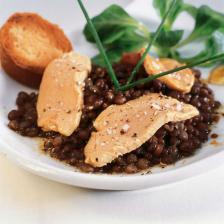 salade lentille foie gras