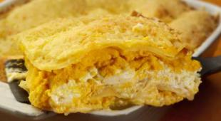 lasagne potiron fromage frais