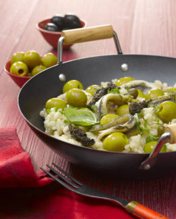 risotto olive anchois