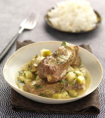 Curry agneau au lait de coco