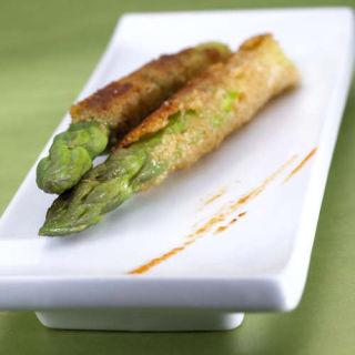 asperges panées au parmesan