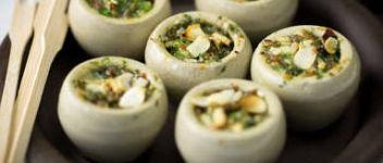 escargots farcies au beurre ail
