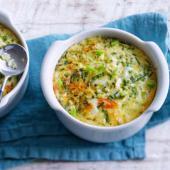 flan de legumes au saumon