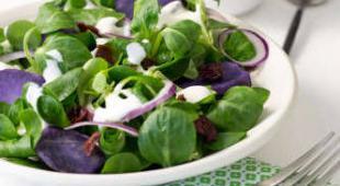 salade sauce yaourt