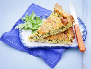 tarte au crabe et salicorne