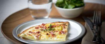 Pizza crème fraiche lardon