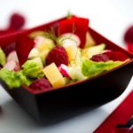 Salade estivale aux framboises