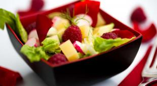 salade salee aux framboise
