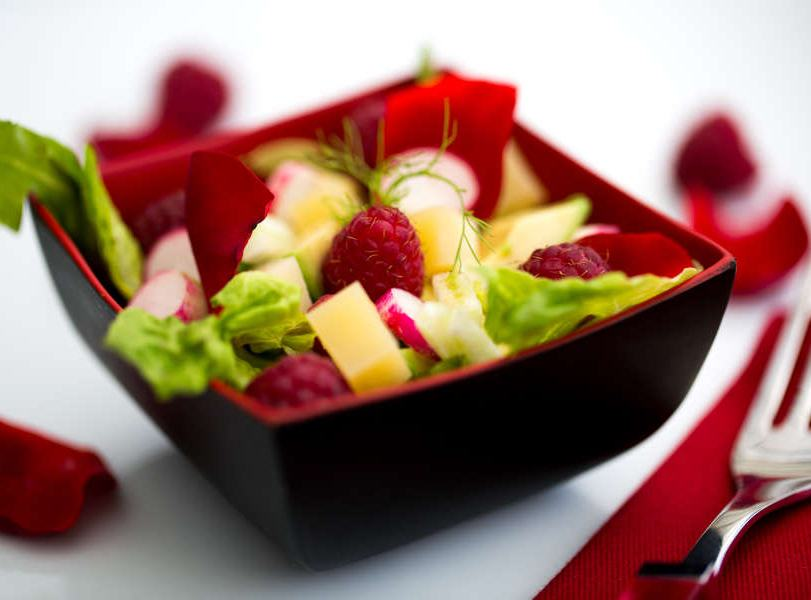 salade salee aux framboise