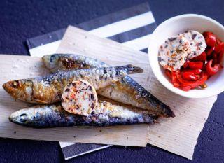 sardine grillée poivron
