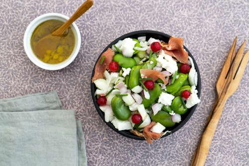 Salade de fèves à la Feta