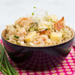 Salade riz poulet fenouil