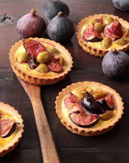 Tarte aux figues et olives vertes