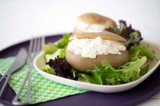 pomme de terre farcie au fromage frais