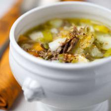 Soupe au confit de canard