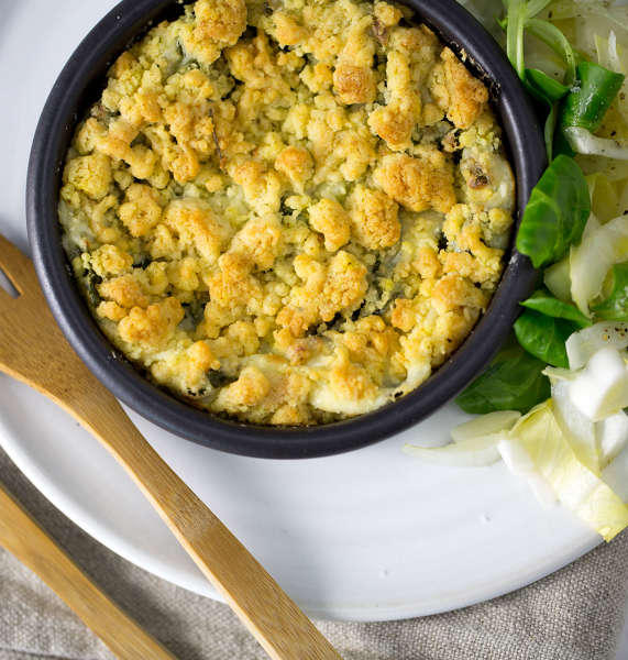 crumble mache fromage