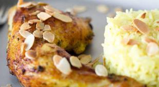 tandoori poulet amandes