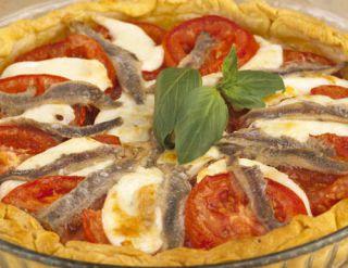 tarte thon anchois tomate mozzarella