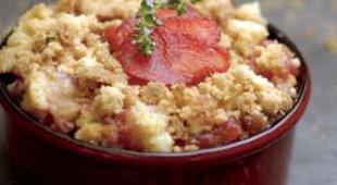 crumble pomme fraise