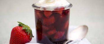 gelée fraise basilic