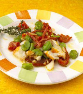 salade fève chorizo haddock