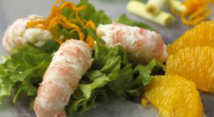 salade langoustine orange