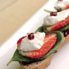 tapas fromage fraise basilic