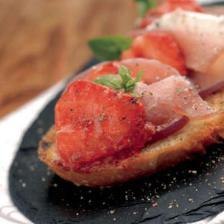 tartine fraise jambon fromage