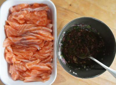 Saumon marin au miel et soja fa on gravlax - Diner facile et rapide ...